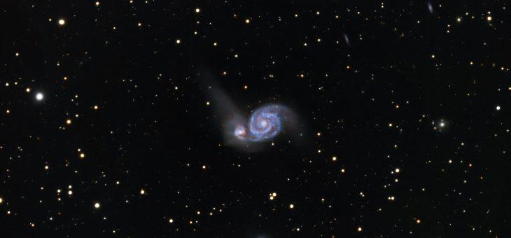 Galaktyka M51 Wir(us)